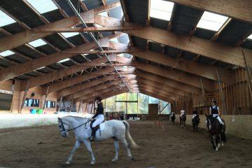 Présentation par les élèves des chevaux débourrés